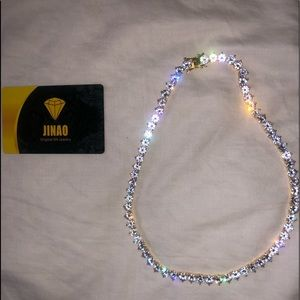 18' inch pointed tennis chain